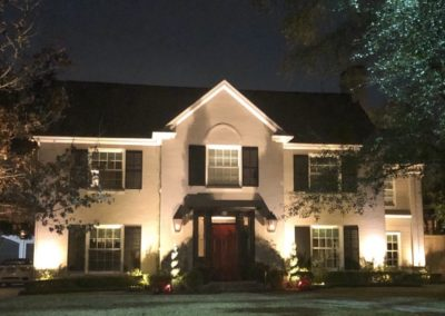 Large home with lighting