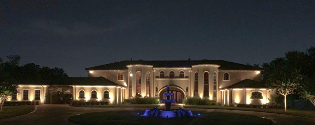 Landscape Lighting Design lights up a large property